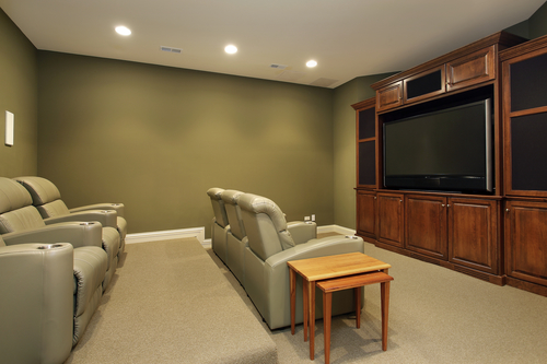 Lush home theater seats
