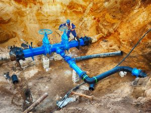 Hire the right industrial plumbing repair team to work on the piping underneath your building.