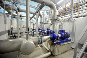 A small problem can turn into a big industrial plumbing repair in a complex boiler room.