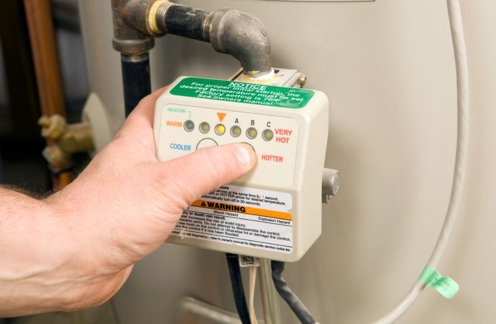 A broken thermostat means you need to do a water heater repair.