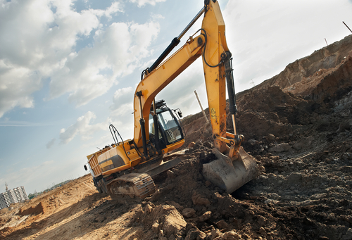 There are different attachments to an excavation machine.
